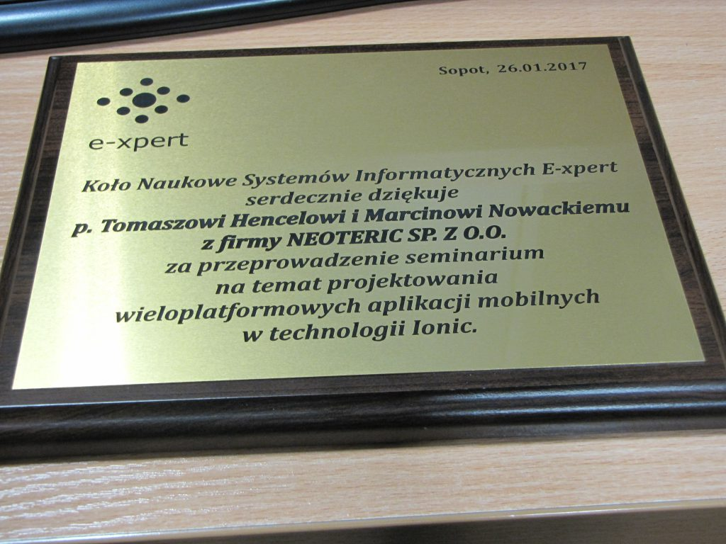 Warsztaty Z Ionic Koło Naukowe Systemów Informatycznych E Xpert