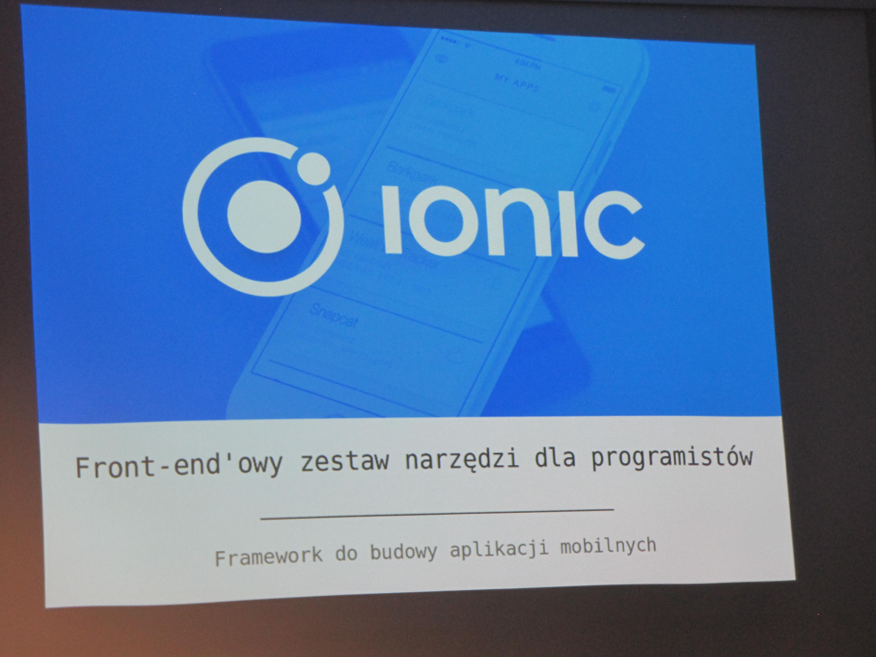 Warsztaty z Ionic